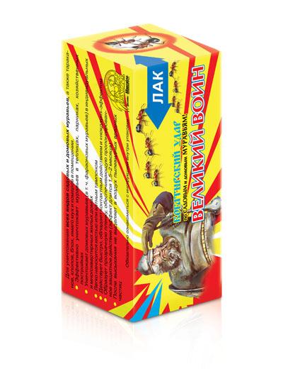 Великий Воин лак против садовых и домашних муравьев флакон100 мл