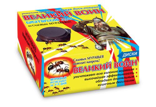 Великий воин (диск-ловушка садовая 5шт + гель от муравьев)