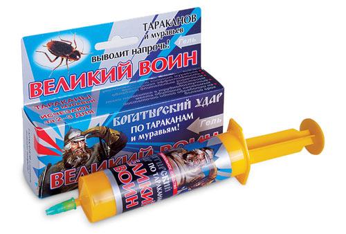 Великий Воин гель против тараканов и домашних муравьев(45гр)