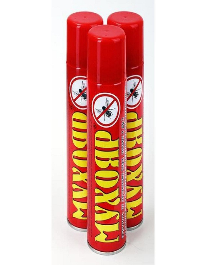 Мухояр аэрозоль от мух (без запаха)  405 см. куб/300 мл