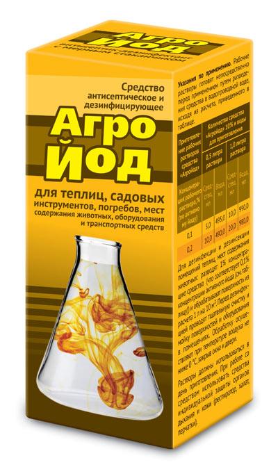 Агройод-средство антисептическое и дезинфицирующее флакон 100 мл с мерным стаканчиком