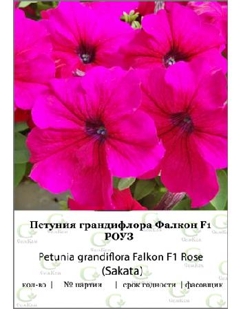 Петуния грандифлора Фалкон Роуз F1 100др (SA) СЕМКОМ ПРОФИ