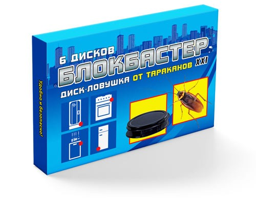 Блокбастер диск-ловушка от тараканов (6шт.)