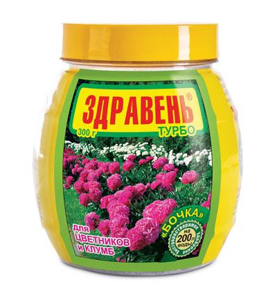 Здравень Турбо Цветники и Клумбы банка-бочка 300 гр. фото